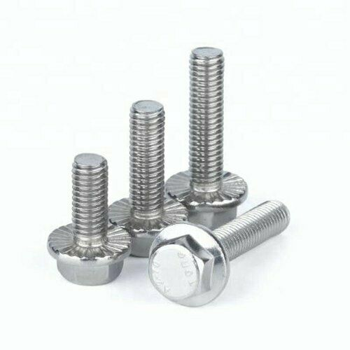 Flange Bolts Serrated Hex Flange Bolts 18-8 Stainless Steel 3//8-16 Select Length