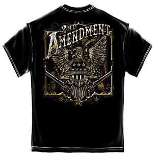 SECOND-AMENDMENT-EAGLE-FOIL-FLAG-GUN-USA-AMERICA-MILITARY-MENS-T-TEE-SHIRT-S-3XL