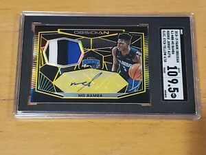 2018-Panini-Obsidian-Mo-Bamba-RC-Auto-10-SGC-9-5-10-RPA-3-Color-Patch-Rookie