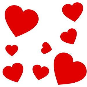 Herzen set herzchen sticker aufkleber hochzeit liebe dekoration fenster fliesen ebay - Herzchen bilder ...
