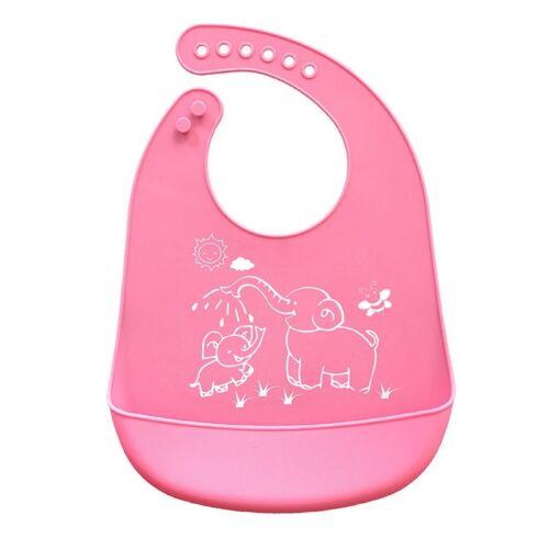 1PC Soft Silicone Baby Bib Adjustable Infant Toddler Feeding Neck Bib Waterproof