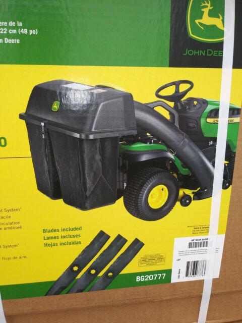 john deere bg20777 48 in twin bagger for tractors for sale