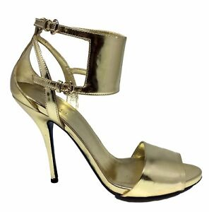GUCCI-GOLD-ANKLE-CUFF-SANDALS-8-5-B-595