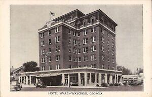 Waycross-GEORGIA-Hotel-Ware-ARCHITECTURE-old-car