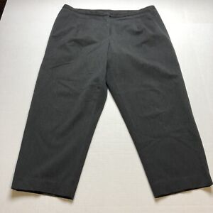 Talbots-Woman-Petites-Gray-Crop-Stretch-Pants-Size-16WP-A1603