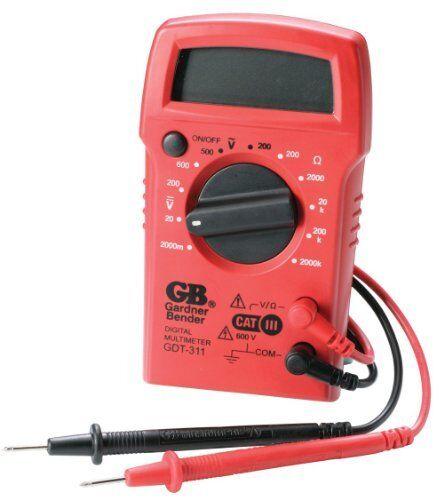 Tests AC//DC Vol 11 Range Gardner Bender GDT-311 Digital Multimeter 3 Function