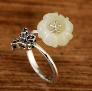 A01-Ring-Bloom-from-White-Jade-Butterfly-Silver-925-Adjustable-Size