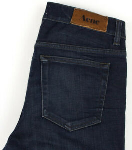 Acne Hommes Ace Oreo Slim Jeans Extensible Taille W32 L25 AGZ363