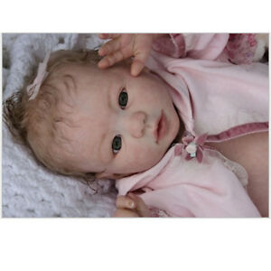 """20/"""" Unpainted Reborn Kits Baby Doll Soft Silicone Head 3//4 Arms Full Legs #3"""