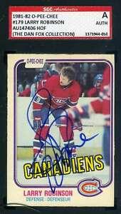 Larry-Robinson-1981-82-OPC-SGC-Coa-Autograph-Authentic-Hand-Signed