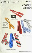 Vintage años 40 Vogue Pattern-Mens ties * Dickie Arco * Yate * Neckwear