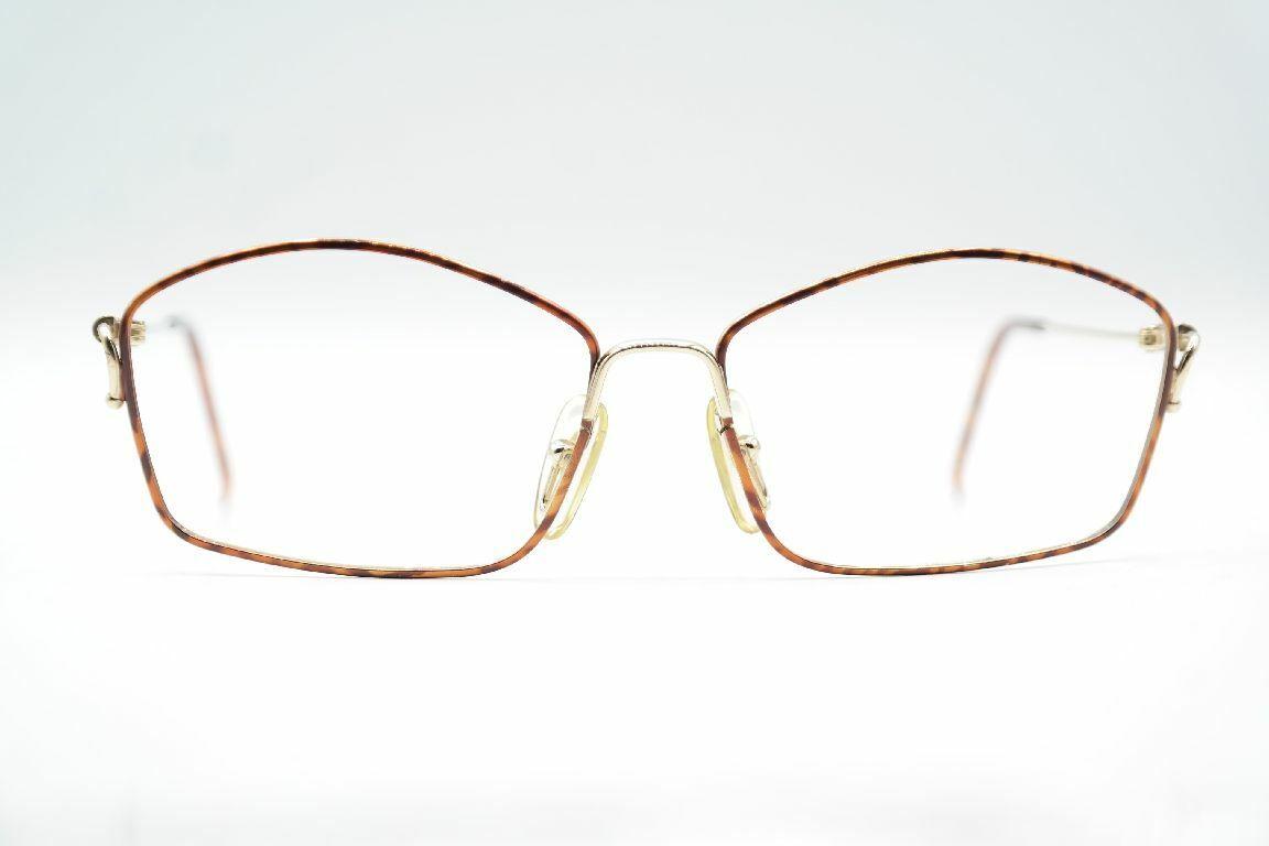 Vintage Christian Dior 2600 41 Gold Brown Oval Glasses Spectacles Frame NOS-show original title