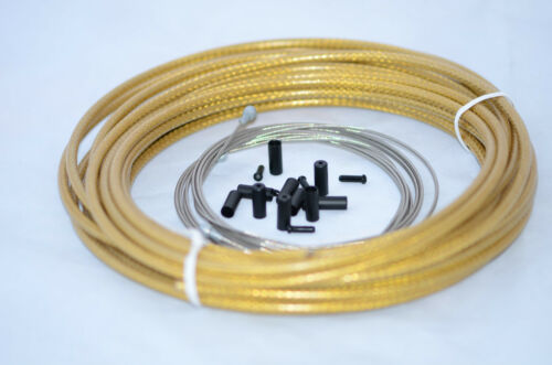 YI ZHAN Road and MTB Brake Braided  Housing Cable Kit---Gold U.Z BIKE