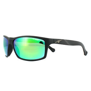 8ac9be74bf Arnette Sunglasses 4207 Boiler 01 1L Matt Black Grey Mirror Green ...