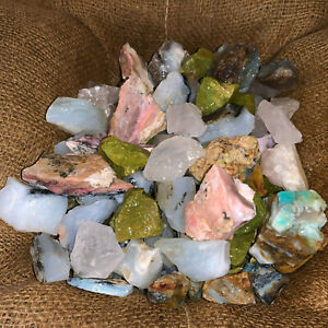 1000-Carat-Lot-of-Mixed-Opal-Green-Blue-Pink-Clear-Rough-FREE-Faceted-Gem