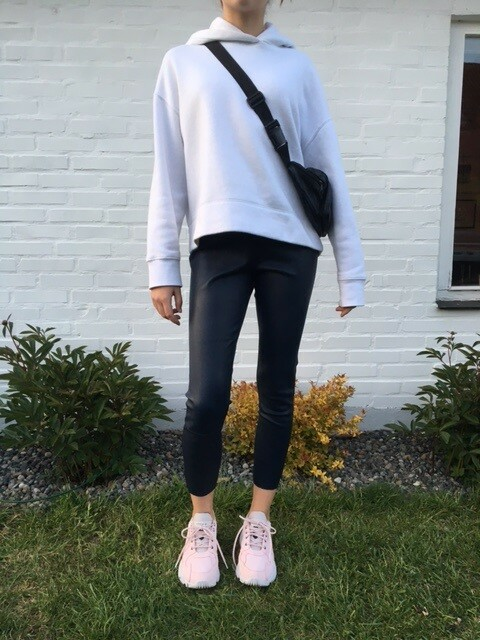Leggings, By Malene Birger, str. 38,  Mørkeblå,  Læder,…