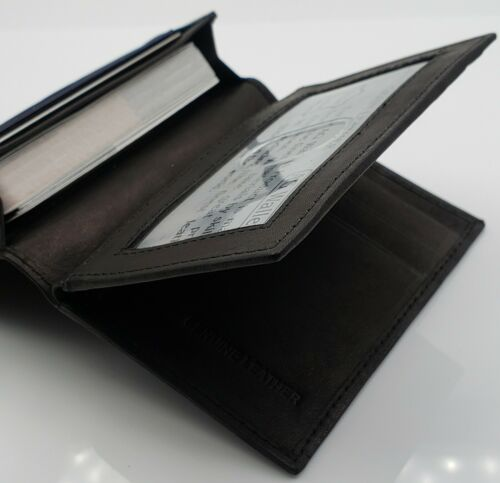 AG Wallets Genuine Leather Business Card ID and Credit Card Holder Wallet NEW