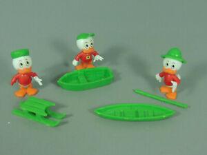 STECKIS-Donald-Freunde-EU-1988-89-mit-Boot-mit-Schlitten-mit-Boot-Paddel