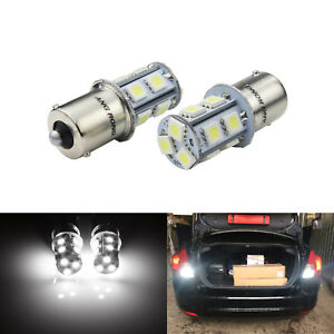 2x-SMD-13-LED-1156-BA15s-P21W-R5W-R10W-Ampoule-signal-inverse-lumiere-blanc12V