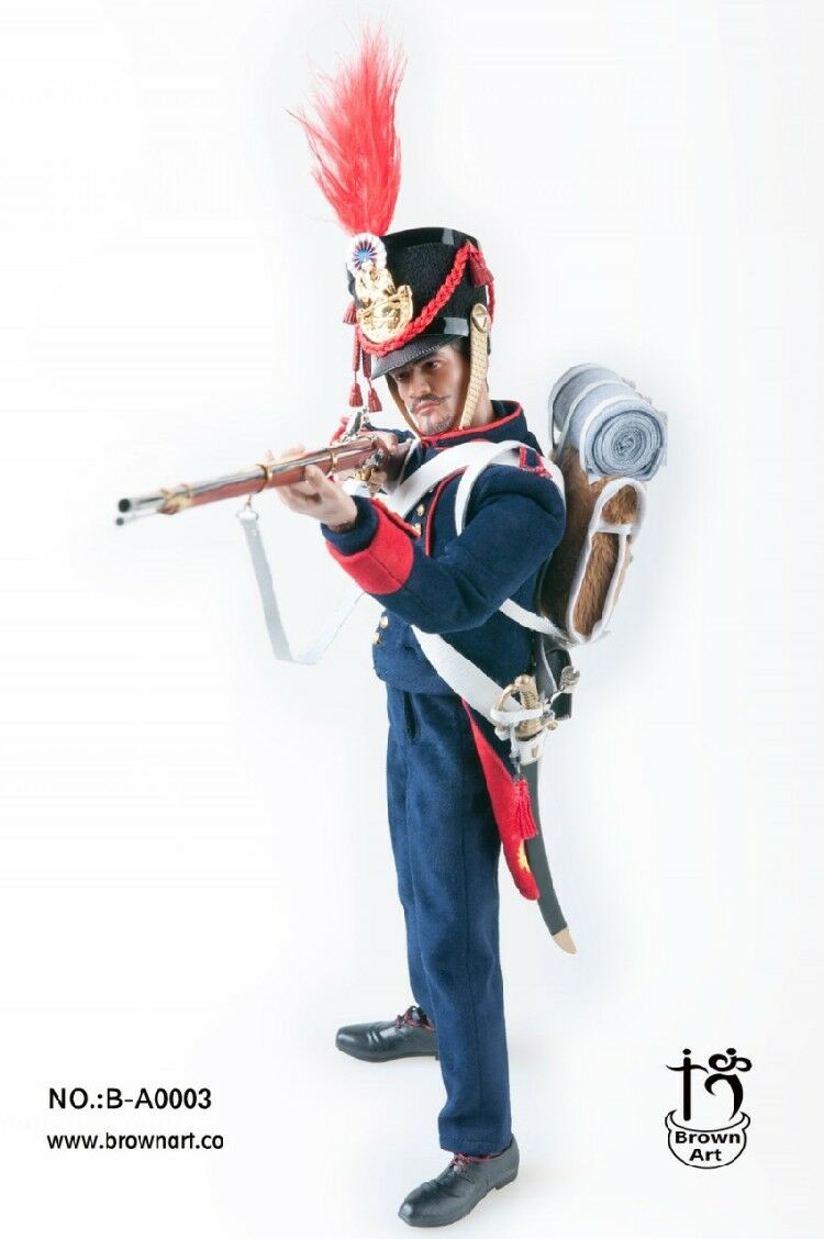 Braun Art Napoleonic Guerras Serie Francés Artillería de Campo Artillero 1/6