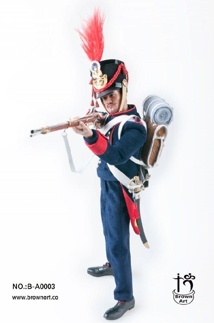 Brown Art Napoleonic Wars Series French Field Artillery Gunner 1 6 Deluxe Ver