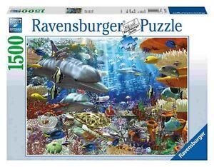 Ravensburger-Puzzle-Rompecabezas-Vida-unter-Wasser-Delphine-Mar-Peces-Multicolor