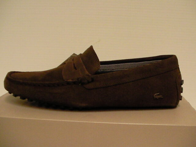 8a9252b548fb5d Lacoste Concours 18 Mens Brown Nubuck Casual Dress Slip on Loafers ...