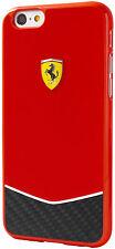"""Genuine Ferrari Scuderia Carbon Hard Case for iPhone 6 Plus & 6s Plus 5.5"""" Red"""