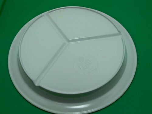 lot of 50 WHITE GET 3 compartment cafeteria restaurant plates lunch CP-530-W