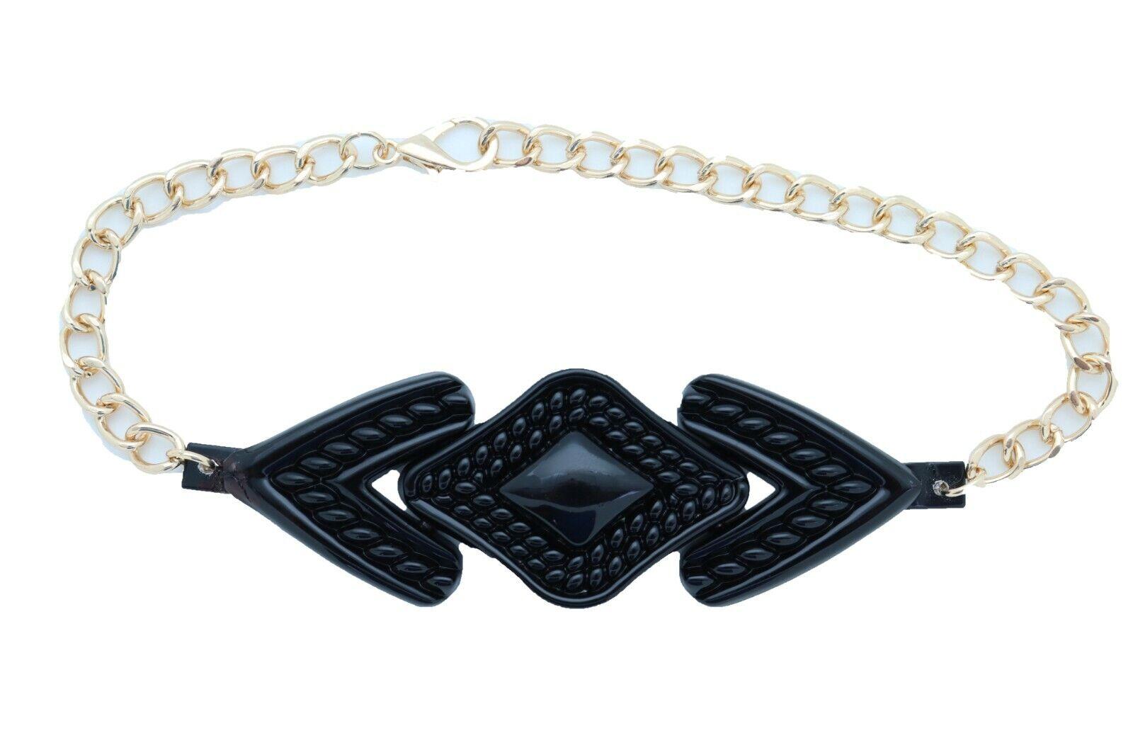 Women Western Metal Boot Chain Bracelet Shoe Black Arrow Head Charm Bling Look