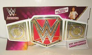 Mattel WWE Superstars Raw Women/'s Championship Title Belt NEW