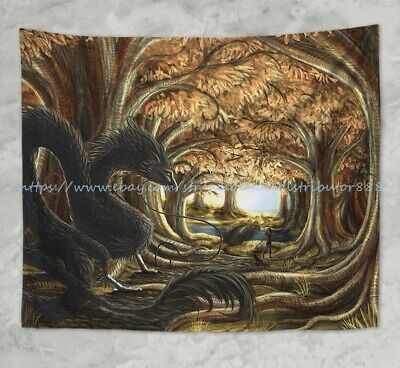 living room wall decor ideas fantasy dragon art wall tapestry