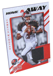 san francisco 844d9 ea0b8 Details about JAMEIS WINSTON Home & Away NFL Football Jersey Card #8 Panini  2018 Buccaneers NM