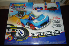 HTF Sonic All-Star Racing Slot Car Set Sonic Vs Shadow Complete Track Tested!!