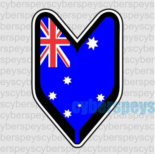 Australia Flag Wakaba Leaf Design Car Vinyl Decals//Stickers