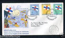 Ned. Antillen FDC E12 _4a M, met adres ;