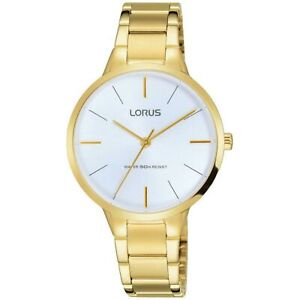 Lorus Quartz White Dial Gold-plated PVD Bracelet Women's Watch RRS98VX9