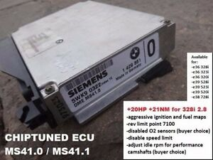 Details about TUNING ecu DME for BMW 330i 3 0 or 3 2 STROKER MS41 MS41 0 /  MS41 1 EUR or USA