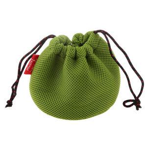 Thicken 3D Drawstring Mesh Cloth Storage Bag for Outdoor Pot Set Bowls Small