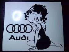 Betty Boop audi rings logo girls vinyl car sticker wall art fun decal graphics