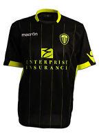 Leeds United 2011/12 Black 3rd Away S/s Macron Football Soccer Shirt Jersey