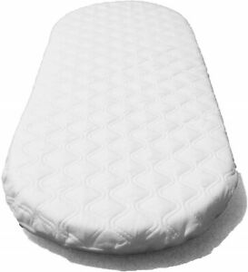 75 X 33 X 3.5 cm Moses Basket Foam Mattress Bassinet Baby PRAM Oval Fully Breathable Quilted