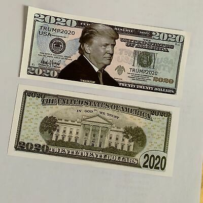 10pcs US Donald Trump Commemorative Coin President Banknote Non-currency $1000 C