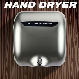 Electric automatic hand dryer stainless steel commercial for Bathroom hand dryers electric
