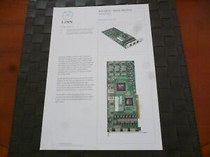 LINN-KIVOR-PCI-MUSIK-MACHINE-SPECIFICATION-amp-TECHNICAL-LEAFLET-PAMPHLET-AS-PICS