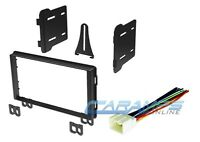 Car Stereo Radio Double Din Dash Kit Installation Mounting W/ Wire Harness Plug on sale