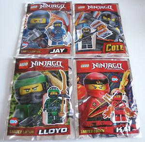 LEGO-Ninjago-Cole-Lloyd-Jay-amp-Kai-Minifiguren-Limited-Edition-OVP