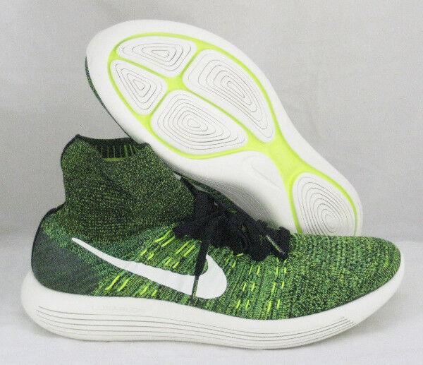 more photos 78cf7 9b0e4 Nike Lunarepic Flyknit Sz 12 Black Volt Poison Green 818676-002 for sale  online   eBay