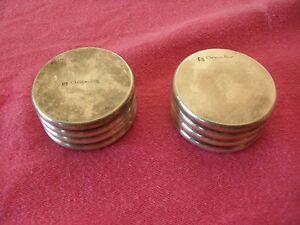 2 Boutons Lourds, Argentés, Christian Dior, 4 Cm Diamètre, 2cm Haut Photos