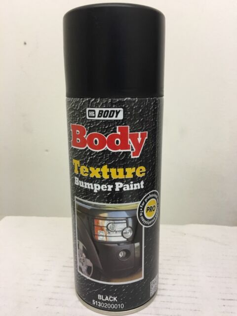 2 X HB Body Bumper Texture Textured Black 400ml Paint Spray Trim